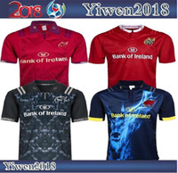 ingrosso migliori maglie-Migliore qualità 2018 New Zealand Munster Rugby maglie MUNSTER città rugby casa lontano uomini 2019 Munster camicie all'ingrosso taglia S-3XL