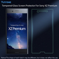 Wholesale Class Protector - For Sony Xperia XZ Premium Screen Protector Tempered Class For Sony XZ Premium Explosion-proof Protective Film 50pcs lot