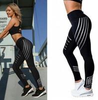Wholesale Print Leggins Xl - Fashion Women Leggings Slim High Waist Elasticity Leggings Fitness Printing Leggins Breathable Woman Pants Leggings 6 Colors
