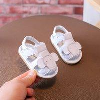 baby sandalen großhandel-2018 Jungen und Mädchen Baby Kleinkind Schuhe weichen Boden Leder genannt Schuhe Baby Baotou Sandalen Slip