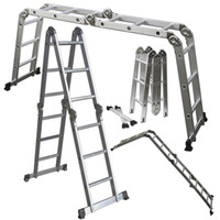 Wholesale 12 FT EN131 LB Multi Purpose Step Platform Aluminum Folding Scaffold Ladder
