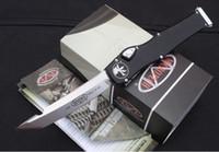 Wholesale v i - Micro 251 tech Halo V-I-6 Automatic Knives Tanto Edge single action Tactical knives Aluminum Handles KYDEX Sheath Survival Hunting knives