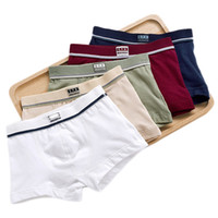 Wholesale boxer children - Boys Underwear Children Panties Boys Cotton Boxer Shorts Children's solid Panties Kids Underwear For 2-16 years