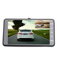 Wholesale high resolution cameras - Wholesale-Kebidumei High-resolution 4 inch Dual Lens Car DVR Cam 1080P Full HD Video Registrator Recorder With Backup Rearview Camera