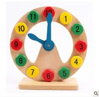 Wholesale alarm number - Early Education Toys Kid Cognition Number Hollow Wooden Beneficial Wisdom Initiation Children Alarm Clock Modle Hot Sale 10 5mz V
