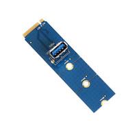 Wholesale pci slots - NGFF M.2 to USB 3.0 Transfer Riser Card M2 to USB 3.0 Extender PCI-E 1x to 16x Slot Converter For Bitcoin Litecoin Miner Mining 10PCS LOT