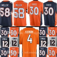 Wholesale broncos jerseys - Denver 4 Case Keenum 30 Terrell Davis 58 Von Miller Bronco Jersey 16 7 John Elway 13 Trevor Siemian 12 Paxton Lynch Jerseys