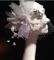 Wholesale Customize Mask - Customize Mask Masquerade Italian White Feather Mask Lace Veil Bling Crystal Princess Female Christmas Halloween Party