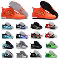 football de futsal achat en gros de-2018 nouvelle chaussure de football en gazon pour football en salle, chaussures de football à crampons ACE Tango 17 chaussures de football Purecontrol IN TF pour hommes