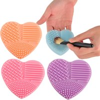 Wholesale cosmetic tool cleaners for sale - Makeup Brush Cleaning Mat Cleaner Silicone Heart shape Cosmetic Brush Scrubber Board Washing Pad Make Up Tool Color for Choose