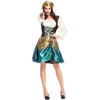 Wholesale pirates costumes for women resale online - 2018 New Gorgeous Pirate Costumes Sexy Dresses For Women Cosplay Halloween Costume Party Fancy Ball Clothing Hot Selling