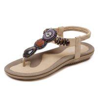 71a2e46110 2018 Verão Nova Moda Grande Tamanho Confortável Chinelos Sandálias Cordas  Fivelas de Elástico Das Mulheres Sapatos Casuais Sandálias Flat