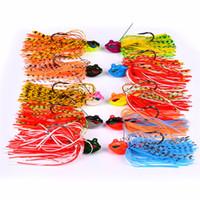 spinners de cauda venda por atacado-Whiskers Squid Bass Jigs Spinner Isca De Pesca 8 cm 13g Barba Cauda 3D Olhos de Peixe Realistas Isca com Grande Gancho Único