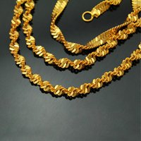 Wholesale Double Rope Necklace - Hot necklace 18K gold necklaces clavicle gold double water chain