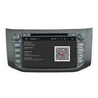 nissan dash gps dvd al por mayor-Reproductor de DVD para NISSAN SYLPHY B17 Sentra 8 pulgadas 4 GB RAM Andriod 8.0 con GPS, control del volante, Bluetooth, radio