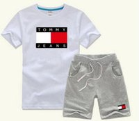 Wholesale baby clothes for boys for sale - HOT SELL New Style Children s Clothing For Boys And Girls Sports Suit Baby Infant Short Sleeve Clothes Kids Set Age