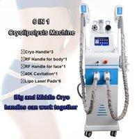 máquina de adelgazamiento por cavitación usada al por mayor-Cryolipolysis machine SPA uso corporal cuerpo adelgazamiento máquina cavitación rf congelación grasa crio que adelgaza el equipo CE