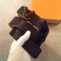 ingrosso fibbie classiche-Gli accessori della cinghia degli stilisti di modo le lettere in metallo semplice cinghia classica della cinghia dell'inarcamento 4.0cm superiore con la scatola