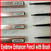 Wholesale eyebrow makeup for sale - Hot Makeup Eyebrow Enhancers Makeup Skinny Brow Pencil gold Double ended with eyebrow brush g Color