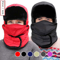 Wholesale Wholesale Fleece Hats Scarves - Winter Mask Outdoor Thermal Warm Balaclava Hats Hood Skiing Cap Fleece Ski Bike Scarf Wind Stopper Ski Mask Hats Caps MK115
