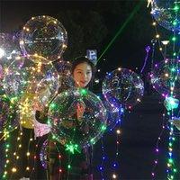 многоцветные рождественские огни для оптовых-Светодиодные мигающие огни воздушные шары ночное освещение Свет строки Бобо мяч многоцветный украшения воздушный шар свадьба рождественская вечеринка декоративные подарки