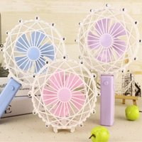 Wholesale Wholesale Hot Wheels Toys - USB Charge Fan Small Plastic Mix Colour Ferris Wheel Shape Children Kid Toy Hold Mini Summer Fold Hot Sale 15 5qs V