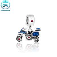 китайские серебряные подвески оптовых-Fashion Jewellery China 925 Sterling Silver Motorcycle Charms Pendants Berloque Prata 925 w Jewellery S463-15