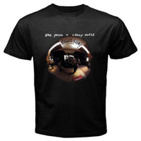 ingrosso moda giovani uomini neri-Neil Young Crazy Horse Ragged Glory Maglietta nera da uomo taglia S - 3xl 100% cotone T Shirt O - Collo Estate Personalità Moda Uomo