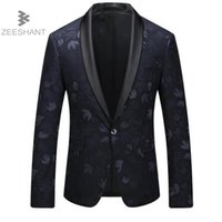 Wholesale good jacket brands - Zeeshant New Brand Men's Slim Fit Business Suit Blazer Jacket Male Good Groom Dress Blazers Male in Men's Suit Jackets XXXXXL