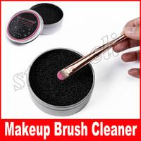 schneller entferner großhandel-3 zweite Farbe aus !! Make-up Pinselreiniger Schwamm Entferner Farbe von Pinsel Lidschatten Schwamm Werkzeugreiniger, Quick Wash