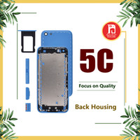 Wholesale iphone 5c housing - For iPhone 5C Housing Back Battery Cover Coque with LOGO & Buttons & Sim Tray + Custom IMEI Fundas Chassis Rear Door Case Middle Body Panel