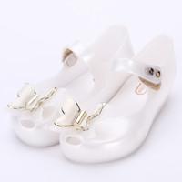 sandales mignonnes pour bébés achat en gros de-Melissa 6 Couleur 3D Papillon Mignon Filles Jelly Sandals 2018 Nouvelle Melissa Enfants Chaussures Bébé Sandales Confortable Princesse Chaussures