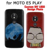 personnaliser le cas de téléphone flip achat en gros de-Vente en gros LOGO Design Photo Case pour Moto E5 Plus Imprimer PU Couverture Arrière en Cuir Personnalisé Cas de Téléphone pour MOTO E5Play Flip Peau