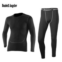 Wholesale thermal underwear long johns - New mens Thermal Underwear Set 2016 Winter Warm Hot-Dry Technology Surface Elastic Force Long Johns Suit Compression lucky john