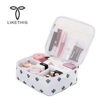 отделение для ящиков оптовых-LIKETHIS Make Up Case Organizer Cosmetic Travel Bag Compartment 2018 Hot Waterproof Toiletry Bag Kits Storage Wash Pouch Zipper