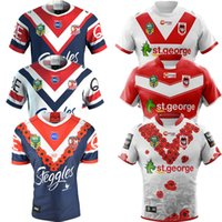 Wholesale tiger dragon - 2018 SYDNEY ROOSTERS ST GEORGE DRAGONS HOME AWAY ANZAC JERSEY size S-3XL 2018 WESTS TIGERS JERSEYS 2018 SOUTH SYDNEY RABBITOHS rugby