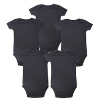 59115ac6d6d41 Tender Babies Place New unisexe garçon bébé vêtements bébé nouveau-né corps  noir 100% coton doux 0-12 mois manches courtes