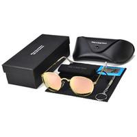 neue stilvolle brillen großhandel-Dünne beine faltbare runde sonnenbrille für mann neue polarisierte sonnenbrille stilvolle metall rahmen uv 400 vintage luxus brillen