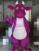 ingrosso vendite di giocattoli adulti-La dimensione adulta libera di trasporto del costume della mascotte del drago viola, ama il partito di carnevale di lusso del giocattolo della peluche della mascotte del dinosauro celebra le vendite della fabbrica della mascotte.