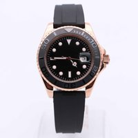 Wholesale buckle style rings - Luxury Watch Brand 40MM Ceramic Ring 116655 Style 18CT Rose Gold AAA Automatic Movement Sapphire Mirror Rubber Strap