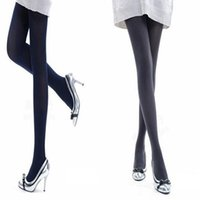 Wholesale opaque tights women - Women Fashion Pure Color 120D Opaque Footed Tights Sexy Pantyhose Stockings New Arrival