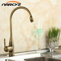 Wholesale antique mixers - Kitchen Faucets Mixer Taps Antique Brass Finished Hot and Cold Deck Mounted with ceramic torneiras para banheiro crane XT902