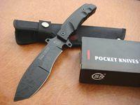 cuchillos de machete al por mayor-SR016 cuchillo de machete dogleg Mango de acero que acampa cuchillo de bolsillo cuchillo de supervivencia al aire libre 1 unids cuchillo de regalo de navidad para hombre freeshipping