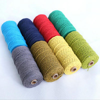 Wholesale Cotton Hangers - DIY Macrame Cord Wall Hanging Plant Hanger Craft Making Knitting Rope Twine String for Crafts 3mm*100m Cotton Cord Ropes