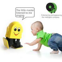Wholesale girls singing - New Bluetooth speaker audio interactive Kids toys educational robot control Walking singing dancing Toy baby boy girl birthday present noisy