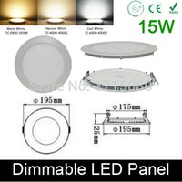 Wholesale Quality Bathroom Fixtures - High quality dimmable 15W LED panel light round LED Recessed ceiling painel light fixtures 4000K for bathroom luminaire lamp