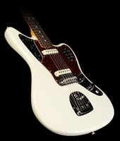 Wholesale jaguar guitar for sale - Custom Jazzmaster Deluxe Olympic White Jaguar Electric Guitar P90 Pickups Red Tortoise Pickguard Vintage Kluson Tuners Floating Tremolo
