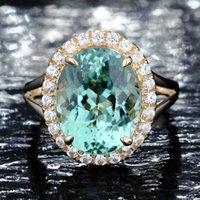 smaragd ringt diamanten großhandel-Beste verkaufende europäische und amerikanische mode ring New Apple Smaragd Engagement Diamant Ring Voller Diamant Micro Inlay Ring Silber Schmuck Verkauf