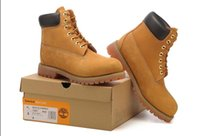 Wholesale work boots for men waterproof - Top qulity brand 10061 Yellow Boot Fashion TBL Boots Leather Waterproof Men boots Work Boot for Camping Hiking Shoes Work Boots 40-46