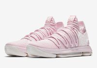 Wholesale kd shoes sale - Top Quality KD 10 Aunt Pearl shoes for sale Kevin Durant Basketball shoes store free shipping AQ4110-600